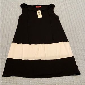 Maternity color block tank dress